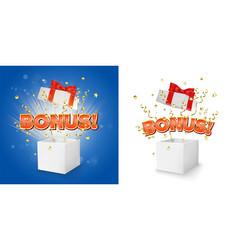 Bonus gift box concept for banner poster vector