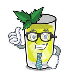 Businessman mint julep character cartoon vector