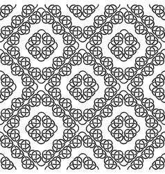 celtic seamless on white vector image
