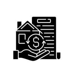Collateral black glyph icon vector