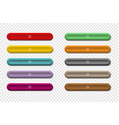 colorful long buttons for your web design on vector image