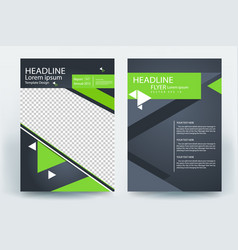 corporative business flyer brochure vector image