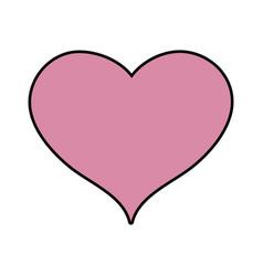 cute heart sign love decoration design vector image