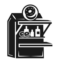 donut kiosk icon simple style vector image