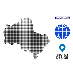 Dotted moscow oblast map vector
