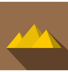 Egyptian Giza pyramids icon flat style vector image