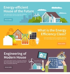 Energy Saving House Banner vector image