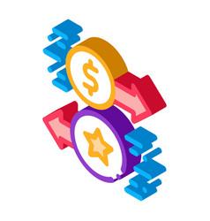 exchange bonuses for money isometric icon vector image