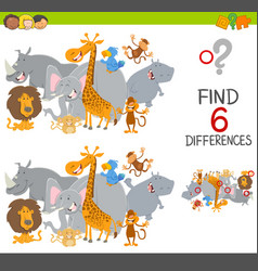 finding differences game for kids vector image