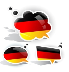 flag of germany speech bubble vector image