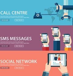 Flat communication background Social network vector