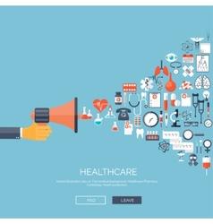 flat medical background vector image
