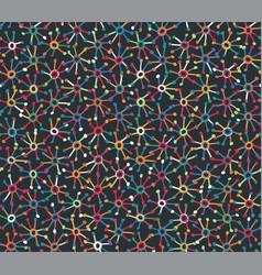 Funky rainbow starburst explode burst motif swatch vector
