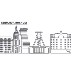 Germany bochum line skyline vector