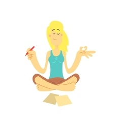 Girl In Lotus Position vector