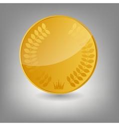 Gold coin icon vecotr vector