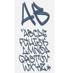 Graffiti font - Marker - alphabet vector image