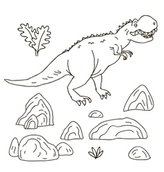 Hand drawn jurassic vector