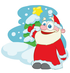 happy santa claus cartoon character vector image