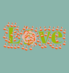 heart and flowers gift for your loved vector image