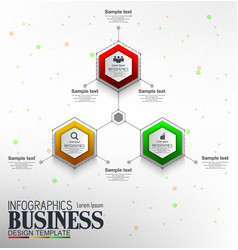 Infographics business template concept with 3 opti vector
