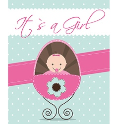 Its a girl baby shower vector