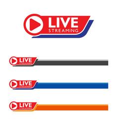 live stream logo design vector image