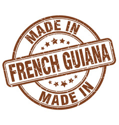 Made in french guiana brown grunge round stamp vector