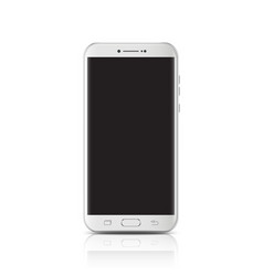 modern realistic white smartphone smartphone with vector image