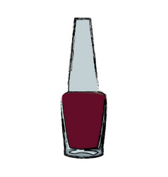 Nail polish bottle cosmetic image vector