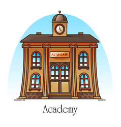 National science academy or education building vector