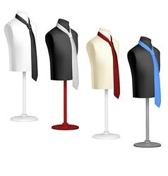 Necktie on mannequin template vector