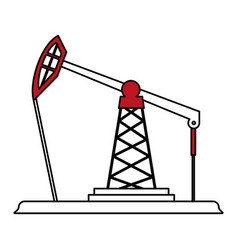 Oil platform design vector