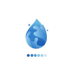 paper art carve of water drop logo vector image