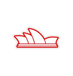 Paper sticker Australian Sydney on white vector