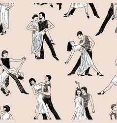 pattern of the dancing couples vector image