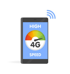 phone fast 4g internet technology smartphone vector image