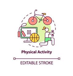 Physical activity concept icon vector