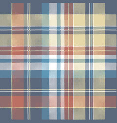 Pixel check plaid seamless fabric texture vector