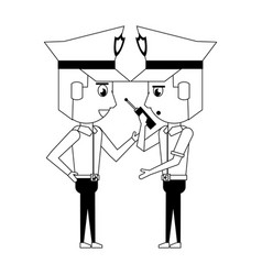 Policemen working avatar cartoon character in vector