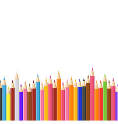 realistic detailed 3d colored pencils row vector image