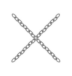 realistic metal chain texture silver color cross vector image