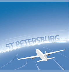 Saint petersburg skyline flight destination vector