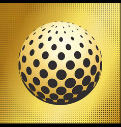 Set abstract halftone 3d spheres 41 vector