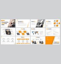 Set business slides for presentation vector