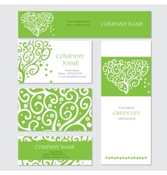 Set of business or invitation cards templates vector image