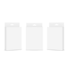 Set of packaging boxes with hang tab vector