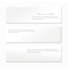 Set of white abstract banners vector image