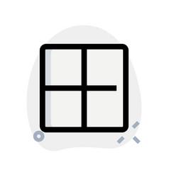 Square blocks grid layout frame template design vector