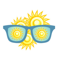 summer sunglasses vector image